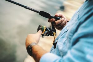 image of someone fishing
