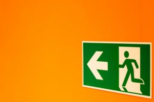 emergency plan image of exit sign