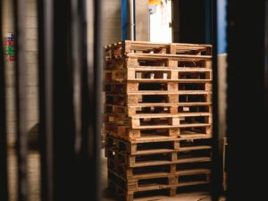 image of empty pallets